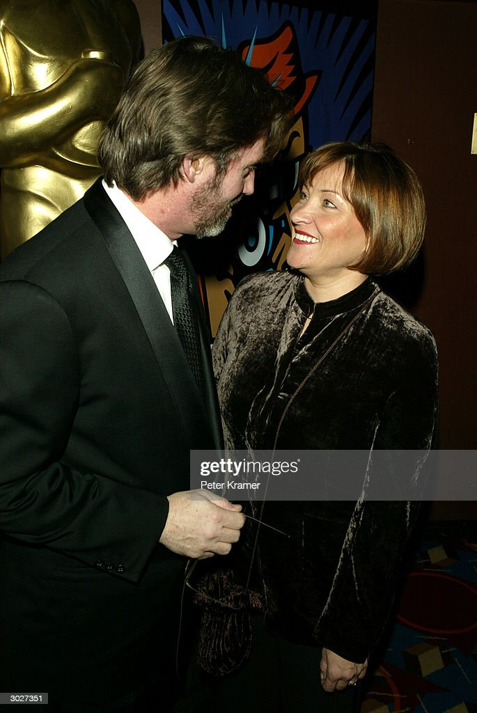 Actor Robert Thomas and wife Goergianna attend the AMPAS Official Oscar Night Celebration at Le Cirque February 29, 2004 in New York City.
