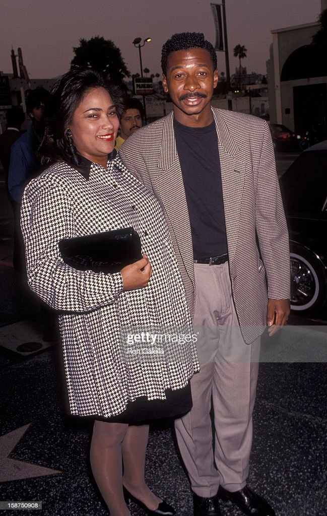 Actor Robert Townsend and wife Cheri Jones attend the premiere of 'Sarafina' on July 18, 1991 at the Doolittle Theater in Hollywood, California.