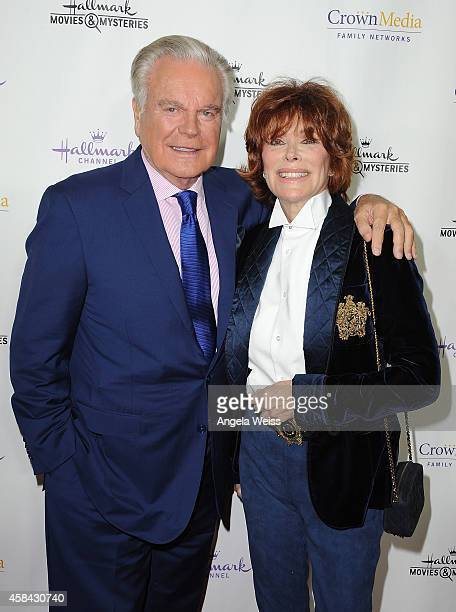 Actor Robert Wagner and actress Jill St John arrive at Hallmark Channel's annual holiday event premiere screening of 'Northpole' at La Piazza...