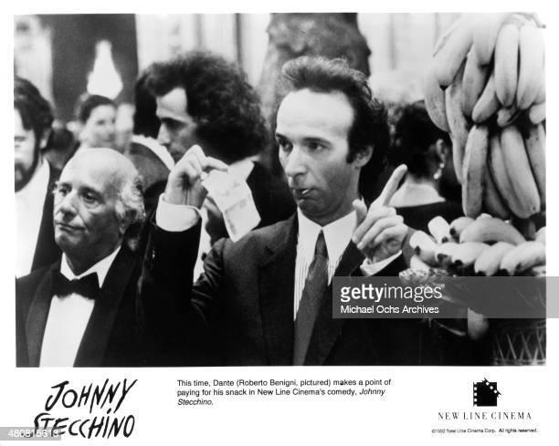 Actor Roberto Benigni in a scene from the New Line Feature movie 'Johnny Stecchino' circa 1991