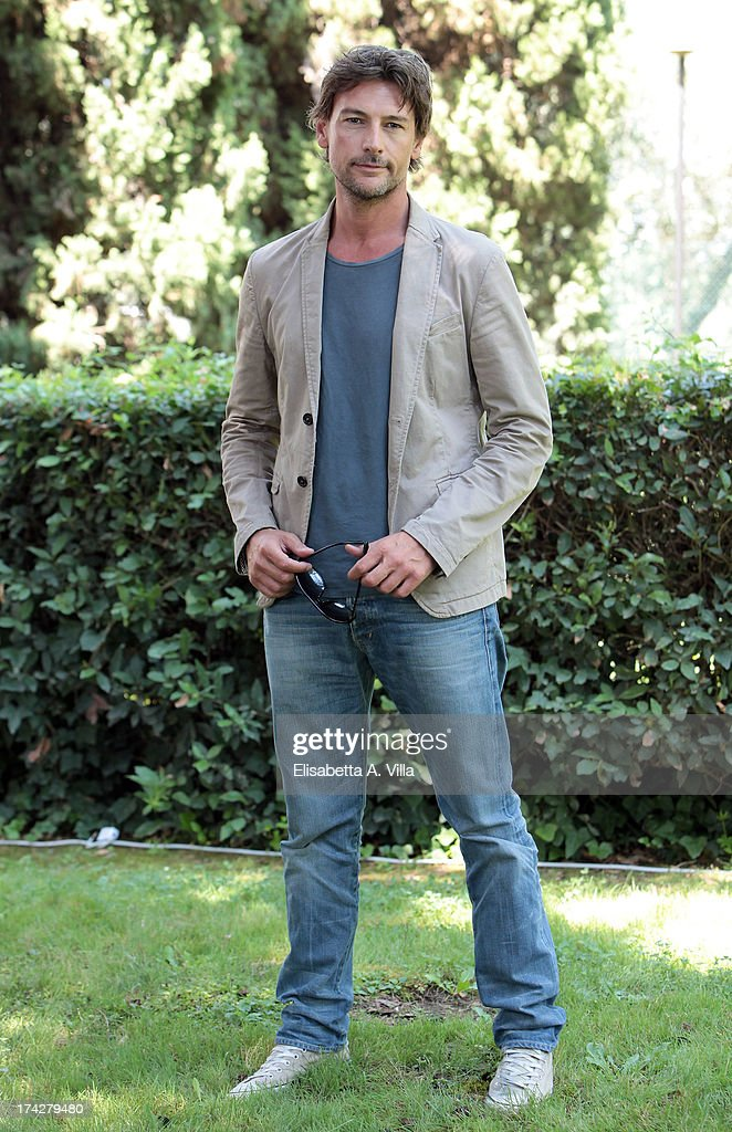 Actor Roberto Farnesi attends 'La Tre Rose Di Eva 2' photocall at Mediaset Studios on July 23, 2013 in Rome, Italy.