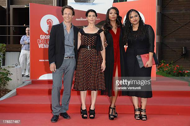 Actor Roberto Zibetti director Hiam Abbass actress Gabrielle Union and director Ava DuVernay attend the 'Miu Miu Women's Tale' Premiere during the...