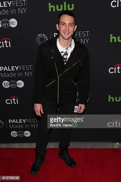 Actor Robin Lord Taylor attends the 'Gotham' panel discussion and screening during PaleyFest New York 2016 held at The Paley Center for Media on...