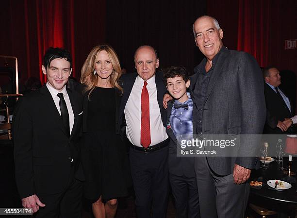 Actor Robin Lord Taylor Chairman Fox Television Group Dana Walden President of Entertainment FBC David Madden actor David Mazouz and Chairman Fox...