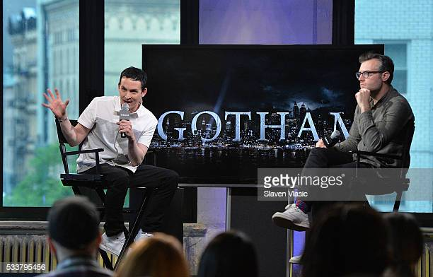 Actor Robin Lord Taylor discusses his role as 'The Penguin' on season three of the hit Fox series 'Gotham' at AOL Build at AOL Studios In New York on...