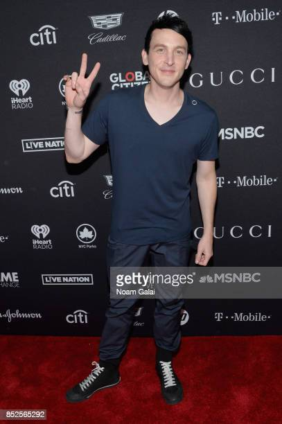 Actor Robin Lord Taylor poses in the VIP Lounge during the 2017 Global Citizen Festival in Central Park on September 23 2017 in New York City