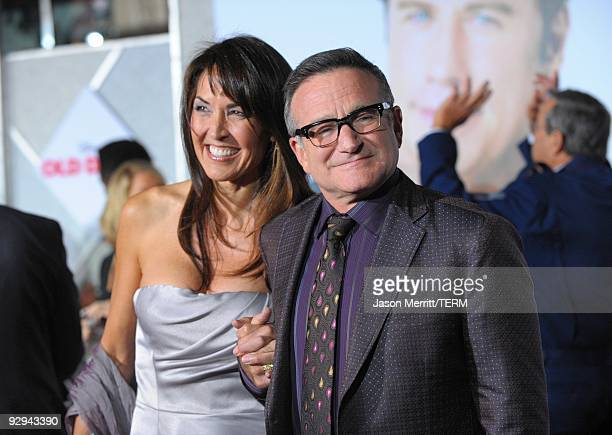 Actor Robin Williams and Susan Schneider arrive at the premiere of Walt Disney Pictures' 'Old Dogs' at the El Capitan Theatre on November 9 2009 in...