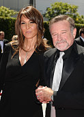 Actor Robin Williams and Susan Schneider attend the 2010 Creative Arts Emmy Awards at Nokia Plaza LA LIVE on August 21 2010 in Los Angeles California