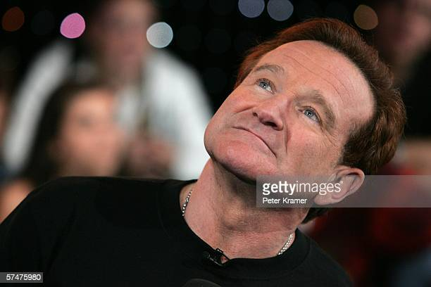 Actor Robin Williams appears onstage during MTV's Total Request Live at the MTV Times Square Studios on April 27 2006 in New York City