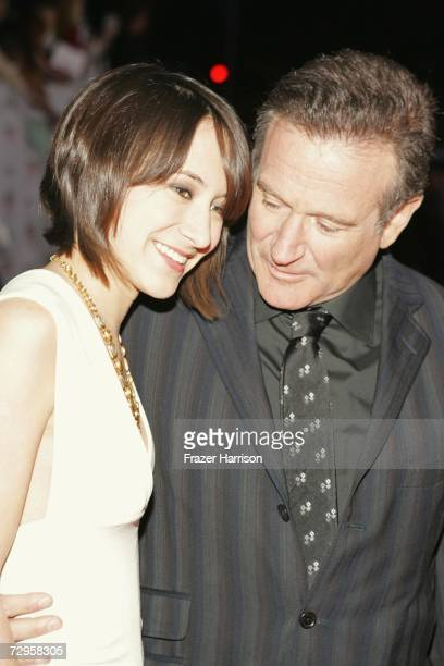 Actor Robin Williams with daughter Zelda arrives at the 33rd Annual People's Choice Awards held at the Shrine Auditorium on January 9 2007 in Los...