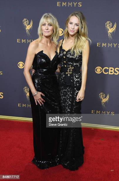 Actor Robin Wright and Dylan Frances Penn attend the 69th Annual Primetime Emmy Awards at Microsoft Theater on September 17 2017 in Los Angeles...