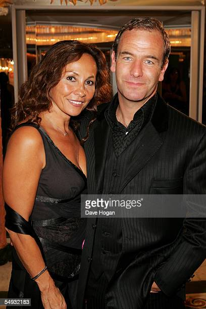 Actor Robson Green and his partner attend the TV Quick and TV Choice Awards at the Dorchester Hotel Park Lane on September 5 2005 in London England