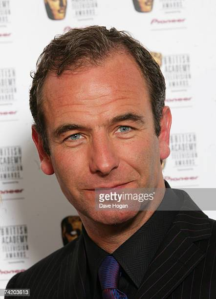 Actor Robson Green poses in the awards room at the British Academy Television Awards at the Palladium May 20 2007 in London England