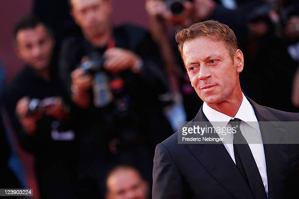Actor Rocco Siffredi attends the 'Tinker Tailor Soldier Spy' premiere at the Palazzo del Cinema during the 68th Venice Film Festival on September 5...