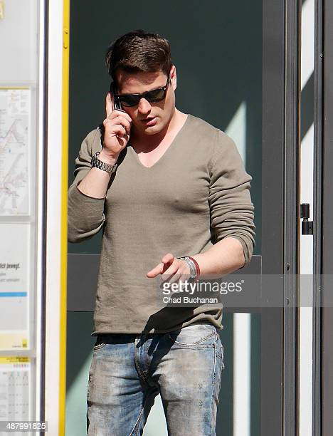 Actor Rocco Stark sighted at his clothing store 'Atelier 12' on May 3 2014 in Berlin Germany