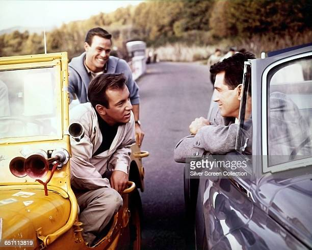 Actor Rock Hudson as Robert L Talbot and singer and actor Bobby Darin as Tony in the film 'Come September' 1961