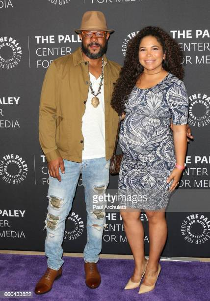 Actor Rockmond Dunbar and his Wife Maya Gilbert attend the 'Prison Break' screening and conversation at The Paley Center for Media on March 29 2017...