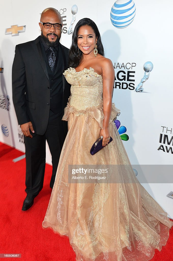 Actor Rockmond Dunbar and Maya Gilbert attend the 44th NAACP Image Awards at The Shrine Auditorium on February 1, 2013 in Los Angeles, California.