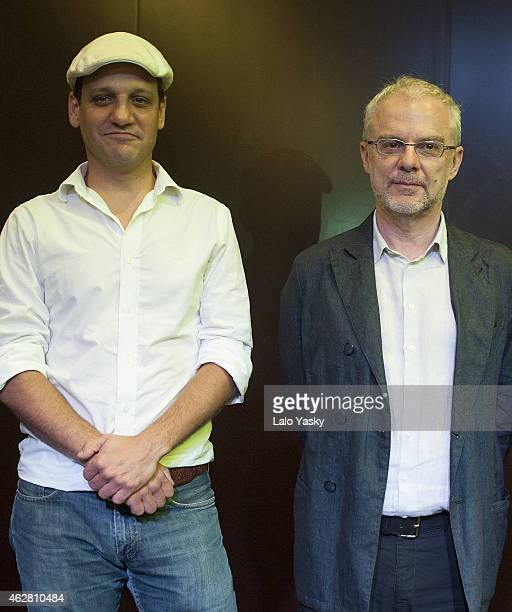 Actor Rodrigo de la Serna and director Daniele Luchetti attend a photocall and press conference to announce the start of filming 'Call Me Francesco'...