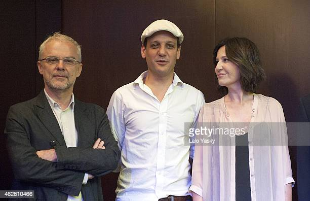 Actor Rodrigo de la Serna director Daniele Luchetti and actress Mercedes Moran attend a photocall and press conference to announce the start of...