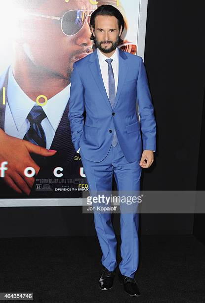 Actor Rodrigo Santoro arrives at the Los Angeles World Premiere Of Warner Bros Pictures 'Focus' at TCL Chinese Theatre on February 24 2015 in...