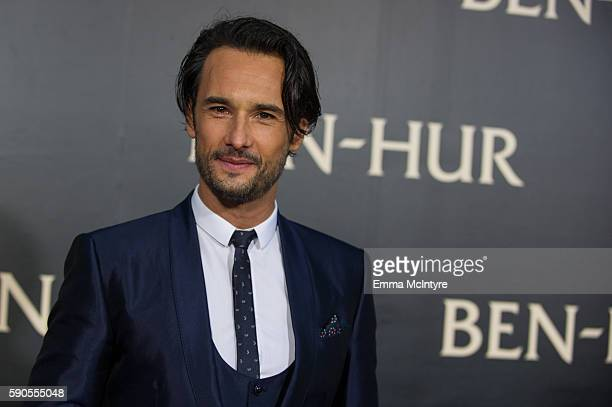 Actor Rodrigo Santoro arrives at the premiere of Paramount Pictures' 'Ben Hur' at TCL Chinese Theatre IMAX on August 16 2016 in Hollywood California