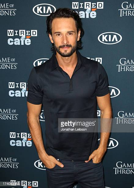 Actor Rodrigo Santoro attends day 2 of the WIRED Cafe at ComicCon on July 19 2013 in San Diego California