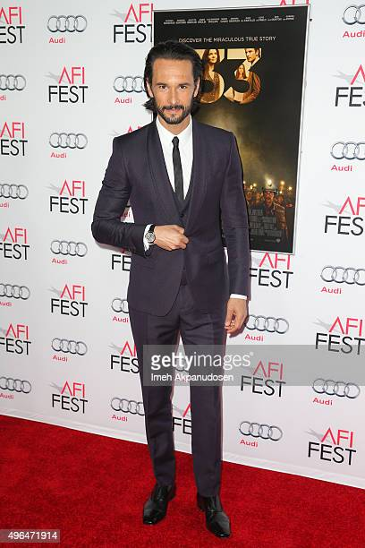 Actor Rodrigo Santoro attends the Centerpiece Gala premiere of Alcon Entertainment's 'The 33' at TCL Chinese Theatre on November 9 2015 in Hollywood...