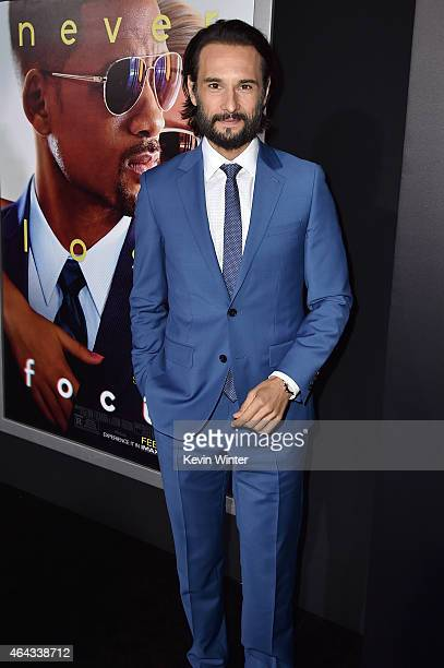 Actor Rodrigo Santoro attends the premiere of Warner Bros Pictures' 'Focus' at TCL Chinese Theatre on February 24 2015 in Hollywood California