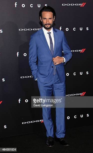 Actor Rodrigo Santoro attends the premiere of Warner Bros Pictures' 'Focus' at the TCL Chinese Theater on February 24 2015 in Hollywood California