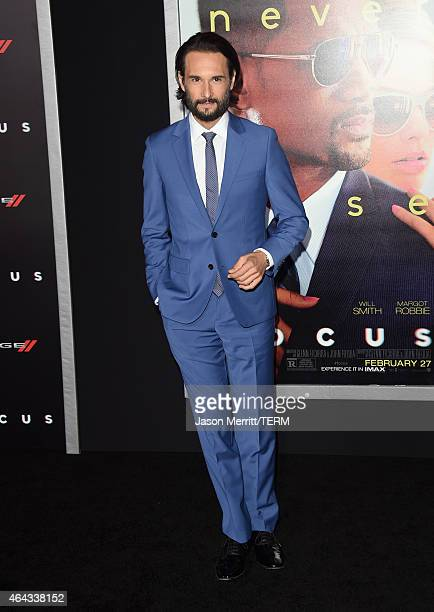 Actor Rodrigo Santoro attends the Warner Bros Pictures' 'Focus' premiere at TCL Chinese Theatre on February 24 2015 in Hollywood California