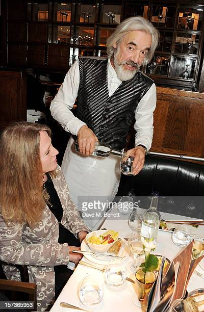 Actor Roger Lloyd Pack working as a waiter attends at One Night Only at The Ivy featuring 30 stage and screen actors working as staff during dinner...
