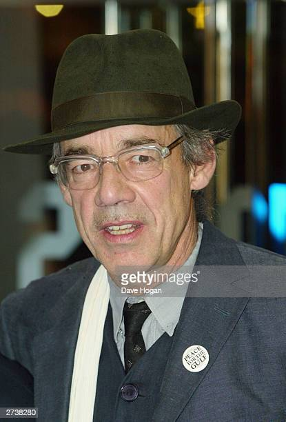 Actor Roger LloydPack attends the CTBF Royal Film Performance 2003 of 'Master Commander Far Side Of The World' at the Odeon Leicester Square on...
