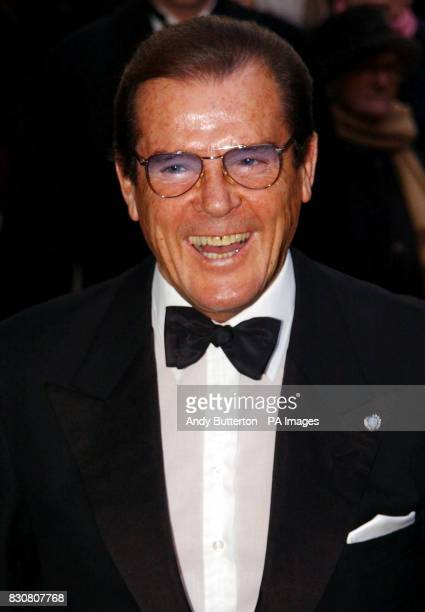 Actor Roger Moore arriving at Claridges Hotel in London for the wedding of actress Joan Collins to Percy Gibson 06/03/02 The 74yearold actor is...