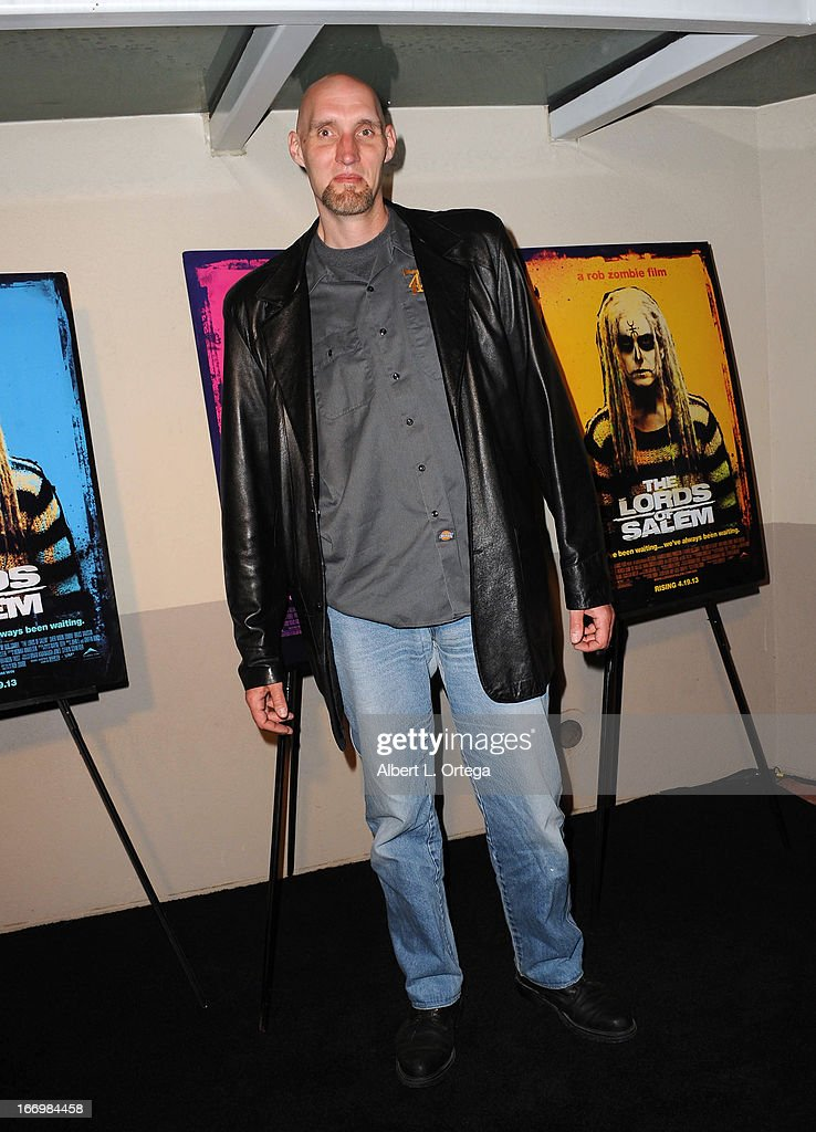 Actor Roger W Morrissey arrives for Fan Screening Of Anchor Bay Films' Rob Zombie's 'The Lords Of Salem' - Arrivalsheld at AMC Burbank 16 on April 18, 2013 in Burbank, California.