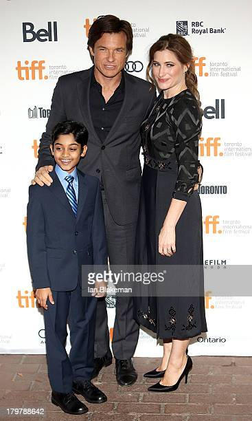 Actor Rohan Chand director/producer/actor Jason Bateman and actress Kathryn Hahn arrive at the 'Bad Words' premiere during the 2013 Toronto...