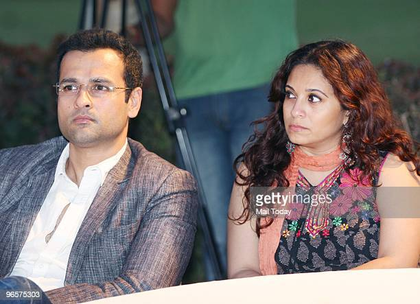 Actor Rohit Roy and Mansi Joshi Roy at the release of the book 'Kaifi ' ' I' the English version of Shaukat Kaifi's book 'Kaifi Aur Mein' in Mumbai...