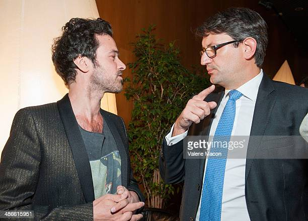 Actor Romain Duris and Consul General of France in Los Angeles Axel Cruau attend 18th Annual City Of Lights City Of Angels Film Festival at Directors...