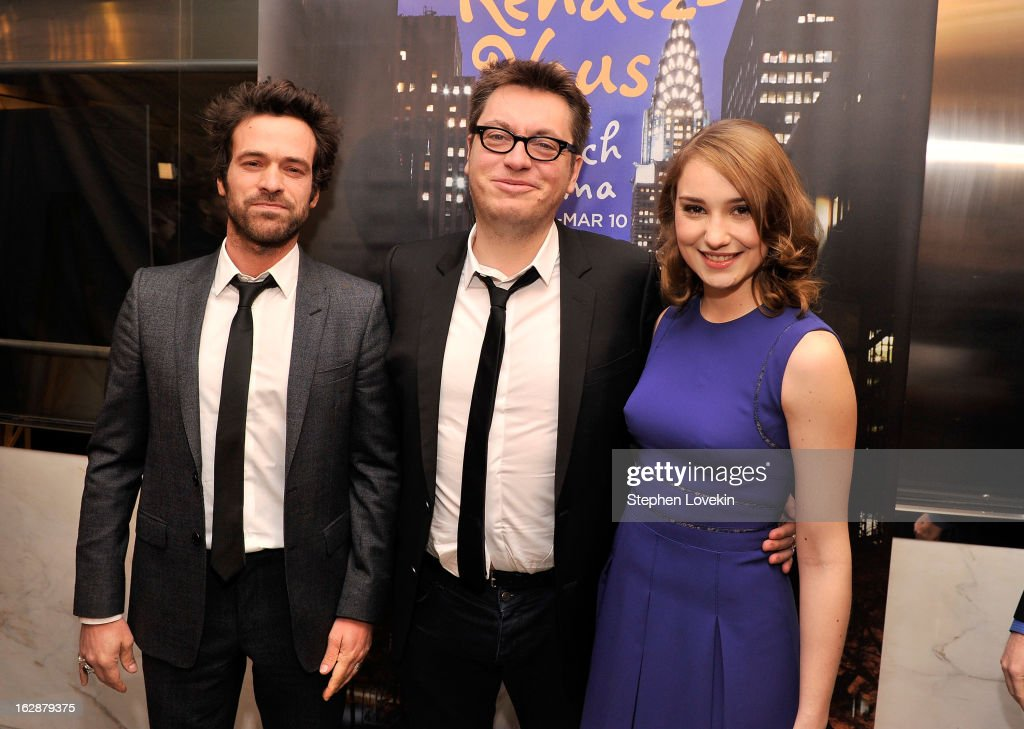 Actor Romain Duris, director Regis Roinsard, and actress Deborah Francois attend the U.S. premiere of 'Populaire', hosted by The Film Society of Lincoln Center, UniFrance Films and The Weinstein Company at The Paris Theatre on February 28, 2013 in New York City.