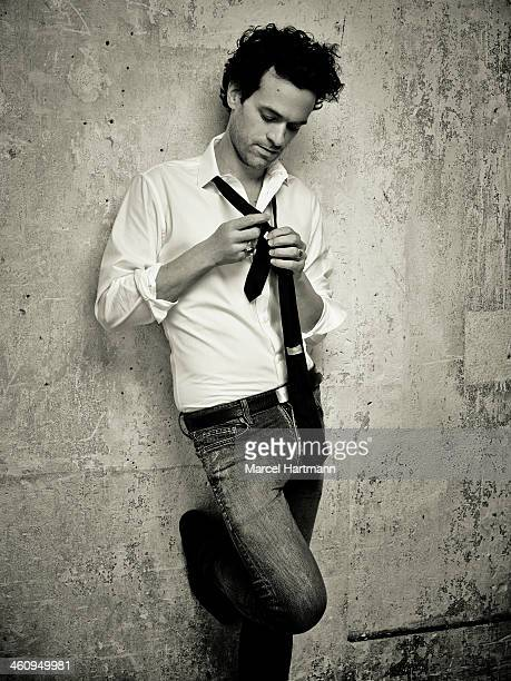 Actor Romain Duris is photographed for Self Assignment on November 1 2013 in Paris France
