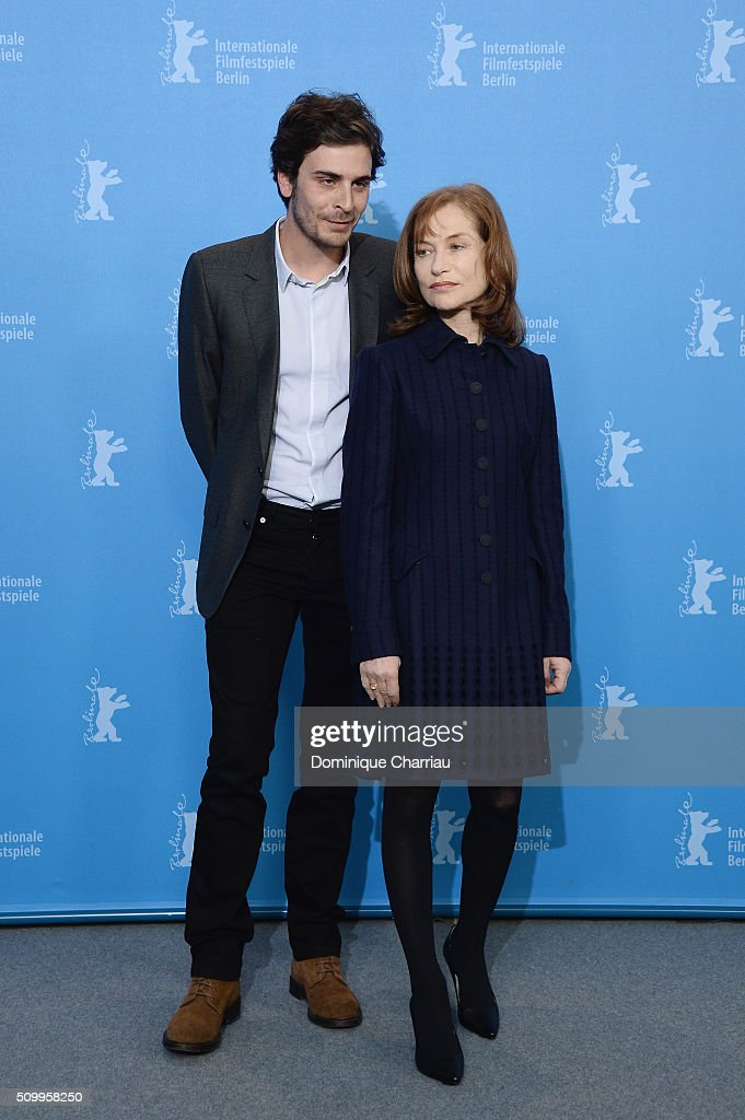 Actor Roman Kolinka and actress <a gi-track='captionPersonalityLinkClicked' href=/galleries/search?phrase=Isabelle+Huppert&family=editorial&specificpeople=662796 ng-click='$event.stopPropagation()'>Isabelle Huppert</a> attend the 'Things to Come' (L'avenir) photo call during the 66th Berlinale International Film Festival Berlin at Grand Hyatt Hotel on February 13, 2016 in Berlin, Germany.