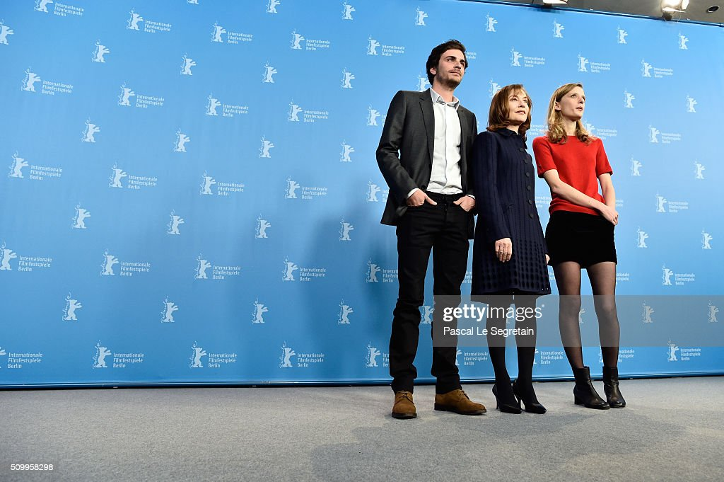 Actor Roman Kolinka, actresses <a gi-track='captionPersonalityLinkClicked' href=/galleries/search?phrase=Mia+Hansen-Love&family=editorial&specificpeople=5846800 ng-click='$event.stopPropagation()'>Mia Hansen-Love</a> and <a gi-track='captionPersonalityLinkClicked' href=/galleries/search?phrase=Isabelle+Huppert&family=editorial&specificpeople=662796 ng-click='$event.stopPropagation()'>Isabelle Huppert</a> attend the 'Things to Come' (L'avenir) photo call during the 66th Berlinale International Film Festival Berlin at Grand Hyatt Hotel on February 13, 2016 in Berlin, Germany.