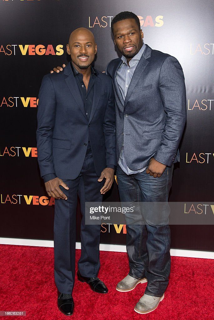 Actor <a gi-track='captionPersonalityLinkClicked' href=/galleries/search?phrase=Romany+Malco&family=editorial&specificpeople=806936 ng-click='$event.stopPropagation()'>Romany Malco</a> and Curtis '<a gi-track='captionPersonalityLinkClicked' href=/galleries/search?phrase=50+Cent+-+Rapper&family=editorial&specificpeople=215363 ng-click='$event.stopPropagation()'>50 Cent</a>' Jackson attend the 'Last Vegas' premiere at the Ziegfeld Theater on October 29, 2013 in New York City.