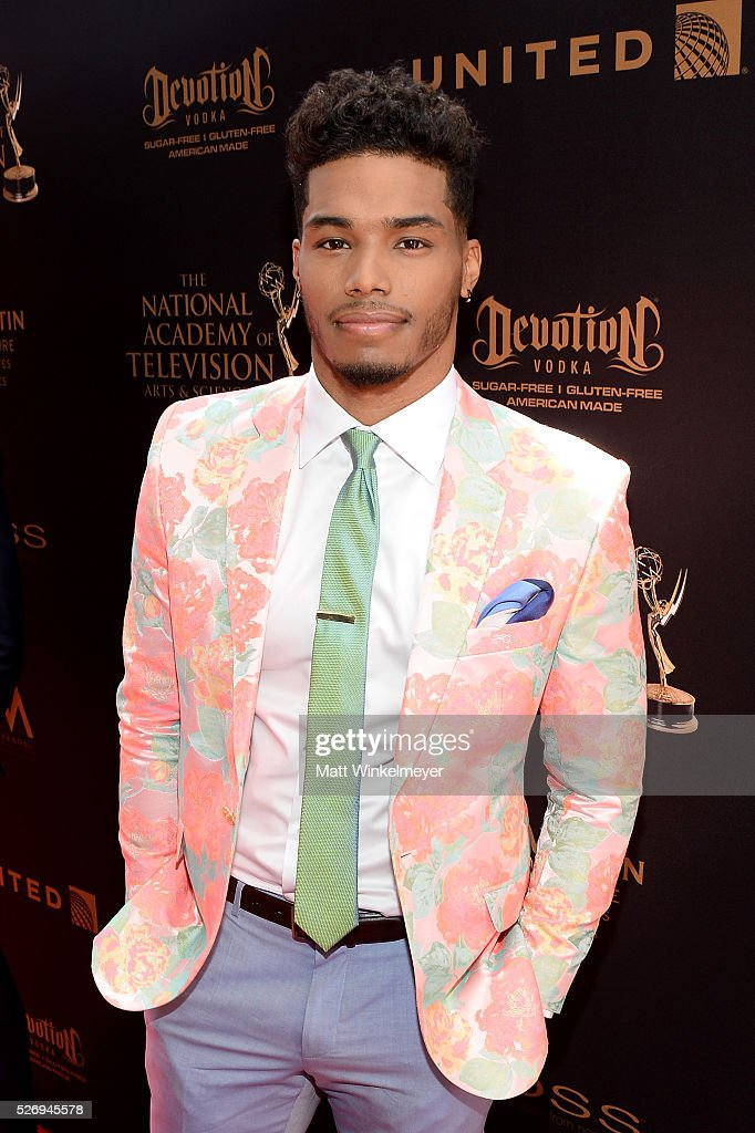 Actor Rome Flynn walks the red carpet at the 43rd Annual Daytime Emmy Awards at the Westin Bonaventure Hotel on May 1, 2016 in Los Angeles, California.