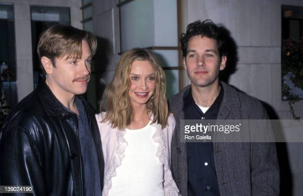 Actor Ron Eldard actress Calista Flockhart and actor Paul Rudd attend the 'Bash LatterDay Plays' Special Performance to Benefit the Human Rights...