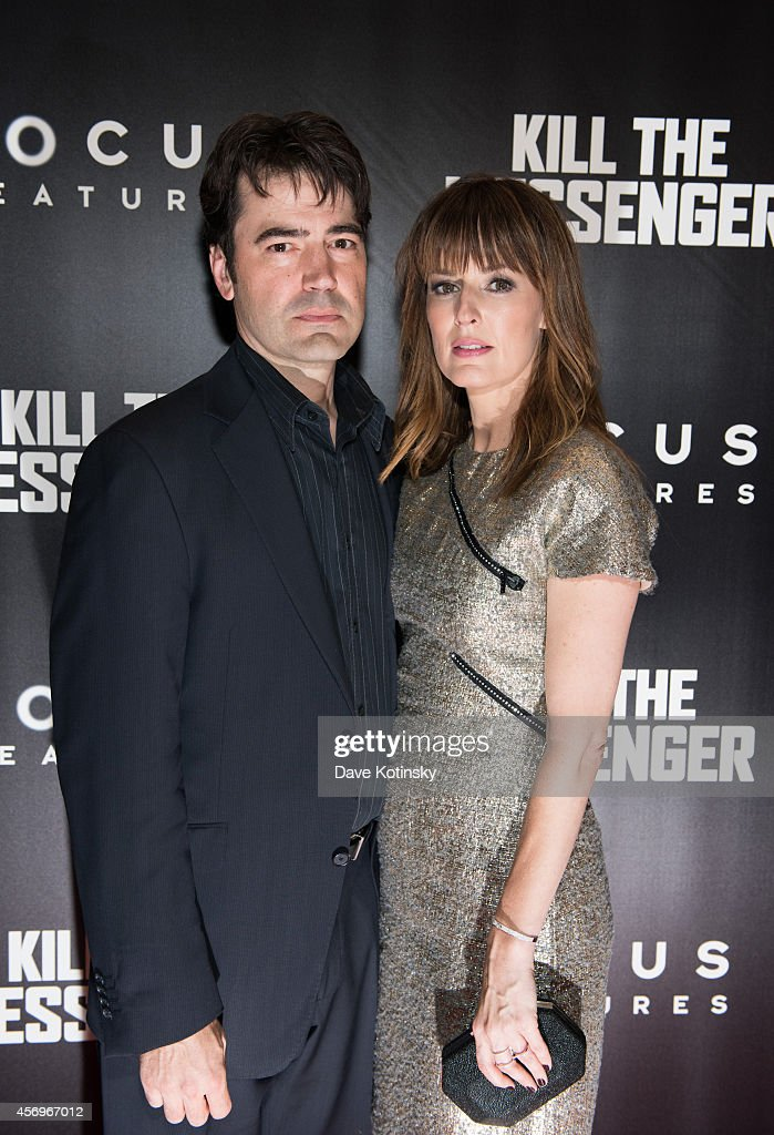 Actor Ron Livingston and actress Rosemary DeWitt arrive at the 'Kill The Messenger' New York Screening at Museum of Modern Art on October 9 2014 in...
