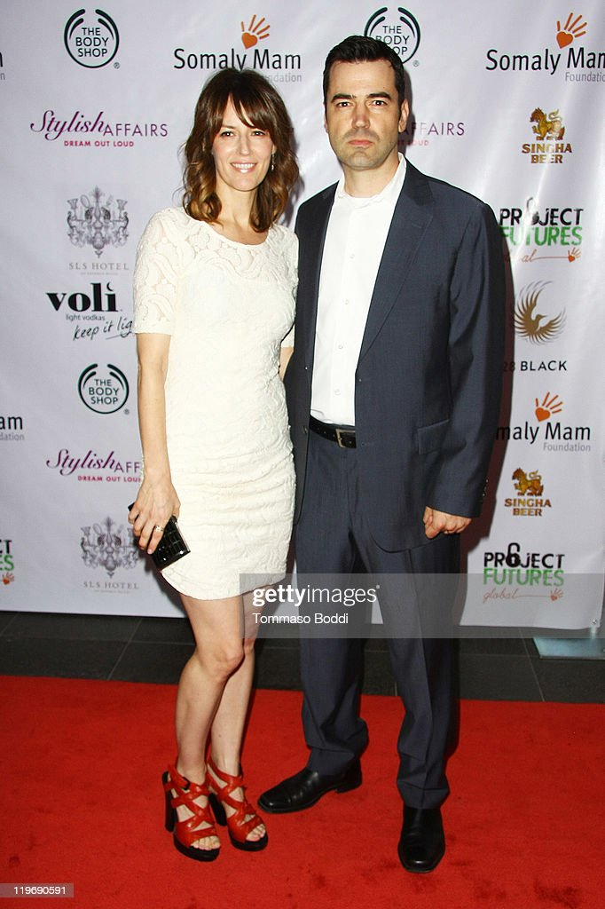 Actor <a gi-track='captionPersonalityLinkClicked' href=/galleries/search?phrase=Ron+Livingston&family=editorial&specificpeople=213878 ng-click='$event.stopPropagation()'>Ron Livingston</a> (R) and Rosmarie DeWitt attend the Somaly Mam Foundation's Project Futures Global Campaign launch event held at the SLS Hotel on July 23, 2011 in Beverly Hills, California.