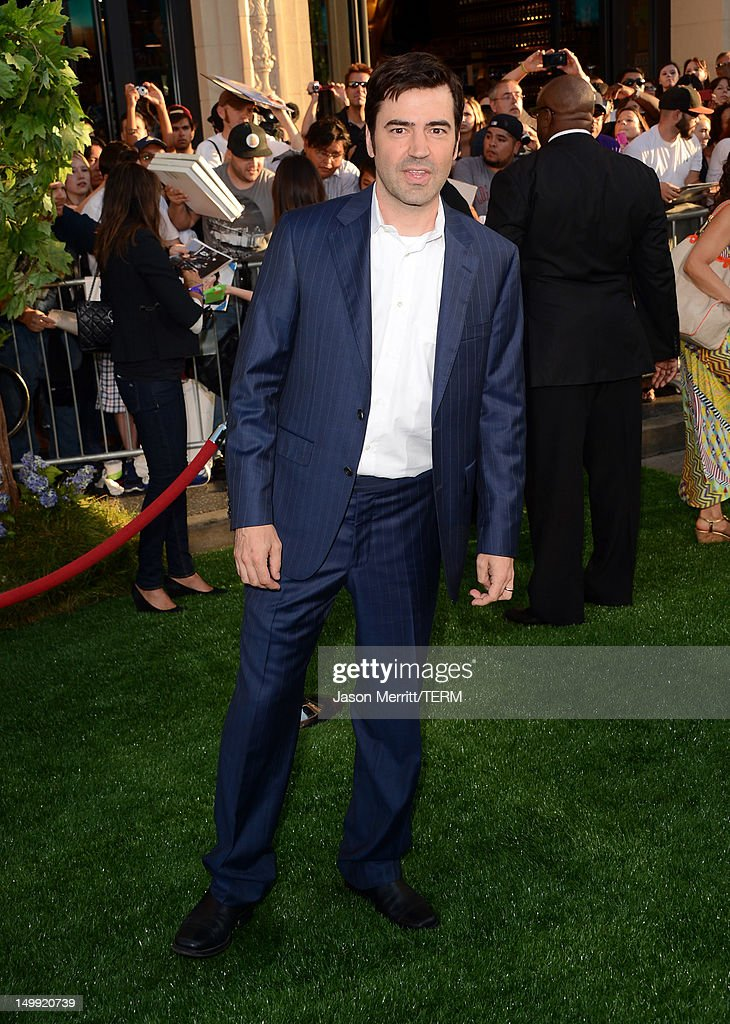 Actor Ron Livingston arrives at the premiere of Walt Disney Pictures' 'The Odd Life of Timothy Green' at the El Capitan Theatre on August 6, 2012 in Hollywood, California.
