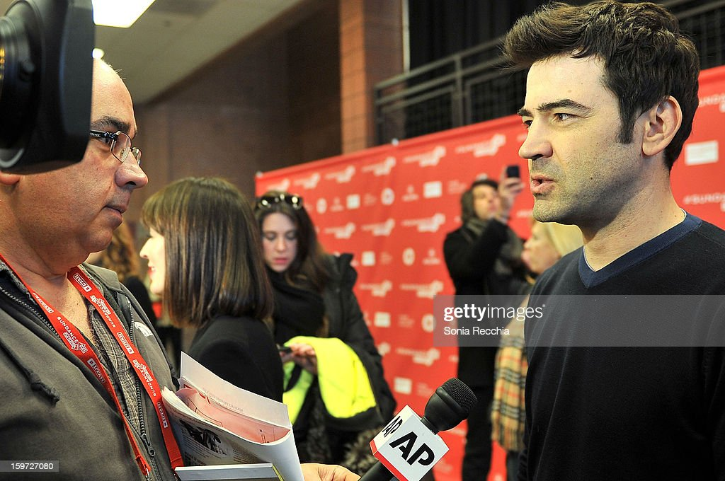 Actor <a gi-track='captionPersonalityLinkClicked' href=/galleries/search?phrase=Ron+Livingston&family=editorial&specificpeople=213878 ng-click='$event.stopPropagation()'>Ron Livingston</a> (R) attends the 'Touchy Feely' premiere at Eccles Center Theatre during the 2013 Sundance Film Festival on January 19, 2013 in Park City, Utah.