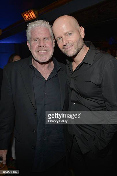 Actor Ron Perlman and director/producer Marc Forster attend the Amazon premiere screening for original drama series 'Hand Of God' at The Theatre at...